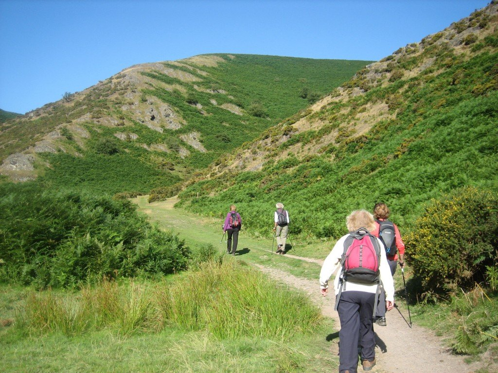 Climbing up to the Long Mynd